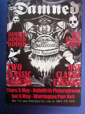 THE DAMNED - 35th ANNIVERSARY TOUR GIG FLYER - warrington holmfirth