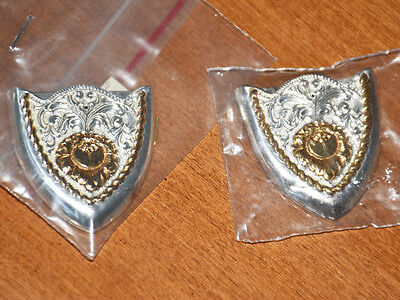 TRULY BEAUTIFUL GOLD and SILVER TONE COLLAR TIPS/POINTS by CRUMRINE INC VeryNice