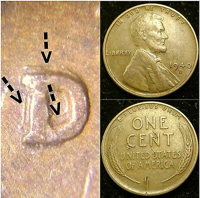 1940 D/D RPM-002 Lincoln Cent Wheat Penny