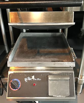"""Star Pro-Max - 14""""  - 2 sided Commercial Panini & Sandwich Grill w/ Grease Draw"""