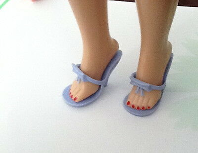 """10"""" Little Miss Revlon Jill Coty And Friends Light BLUE Bow Doll Shoes"""
