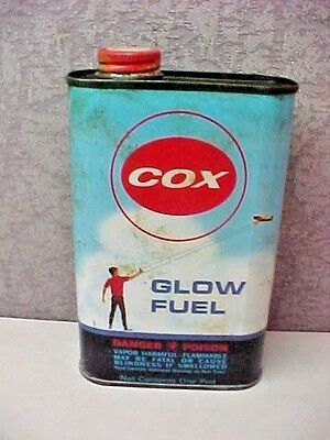 COX GLOW FUEL VINTAGE 1 PINT EMPTY METAL CAN Model Sports Collectible