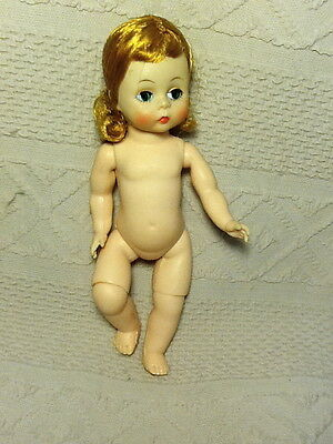 """8"""" Alexander Doll RED Hair With GREEN Eyes Bent Knees Nude"""