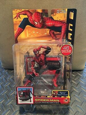 2004 NEW RARE SPIDERMAN 2 TOY BIZ SUPER POSEABLE Figure Marvel Legends 46 POINTS