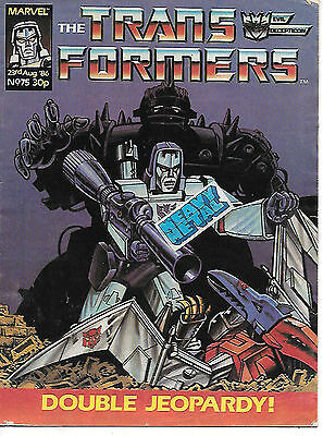 Transformers #75 (Marvel UK 1986, full colour throughout, 28 pages) mid-grade