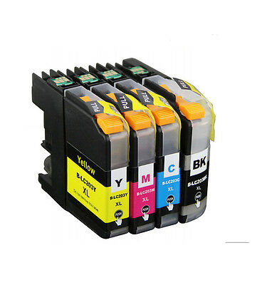4Pk Non-Oem Ink Cartridge Brother Lc-203 Xl Mfc-J4320Dw J4420Dw J4620Dw J5520Dw