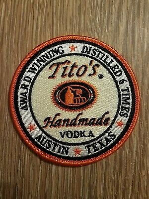 Tito's Vodka Embroidered Patches New Lot of Two