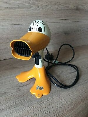 Vintage Retro Remington 'Duck 'n' Dry' Hair Dryer Rare & Collectable WORKING