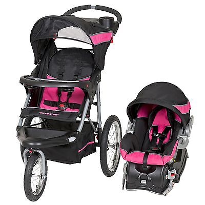 Baby Stroller And Car Seat Travel System Infant Jogging Girls Pink FREE SHIP