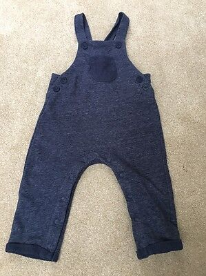 Next Cotton Dungarees Navy Blue Baby Boy 9 12 Months