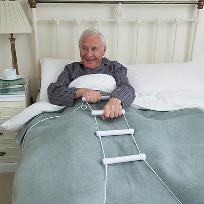 Bed Rope Ladder Hoist Climber Pull Sit Up Support Elderly Disabled Mobility Aid