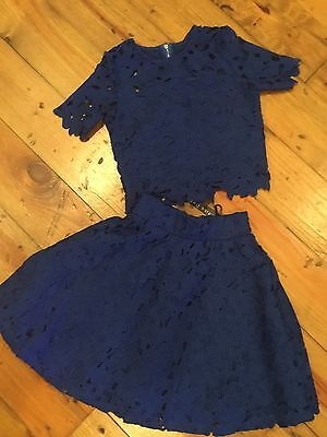 NWt Miss Behave girls 2 piece skirt and top set size M 8-10
