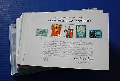 1972 - 2004 United Nations Souvenir Card collection