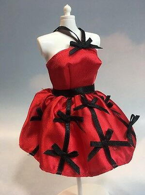 Barbie Doll Clothes: Genuine Labeled Red & Black Dress Fashion Mattel