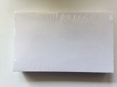 NEW SEALED 100 Blank 3 X 5 Index Cards - WHITE