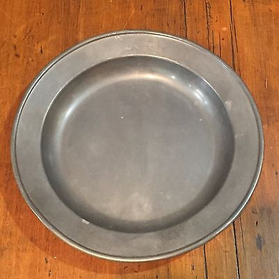 """Antique Vintage Pewter Plate 8.5"""" with Hallmarks"""