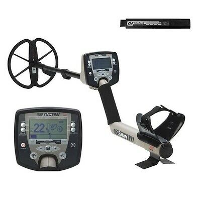 """Minelab Safari Metal Detector with 11"""" Search Coil and 3 Years Warranty"""
