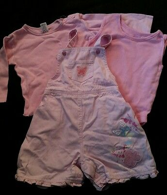 baby girls dungarees and top set 6-9 months