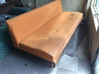 BUY AS IS, or REUPHOLSTER! Vintage, Retro, Danish,Mid Century,Sofa, Couch,Settee