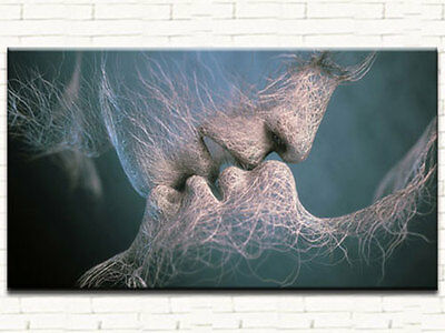 ELECTRIC KISS MODERN ABSTRACT CANVAS PRINT LARGE 60x100 (ON FRAME) WALL ART