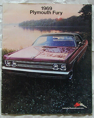Original Vintage 1969 Plymouth Fury I II III Sales Brochure Catalog Ad