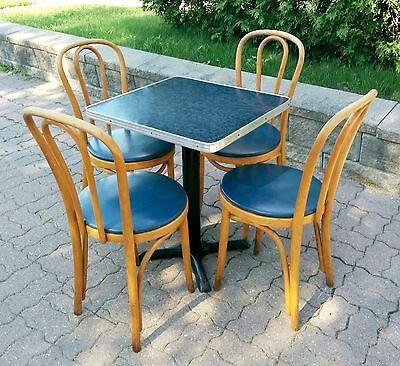 Antique Vintage Old Thonet style bistro table and chairs