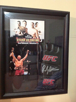 Randy Couture   signed glove & shadowbox