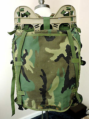 MOLLE II Woodland Camo Ruck Sack USGI Pack Army Military Backpack VG Frame 1