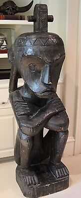 "Spirit figure DAYAK Head Hunter Indonesia Large 55"" Statue"