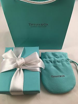 Tiffany & Co Empty Presentation Box, Pouch Carry Bag And Ribbon