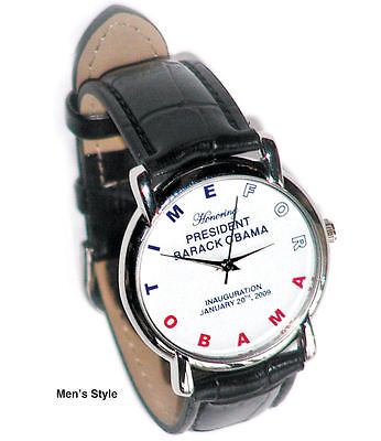 MALE Authentic 2008 Commemorative Obama Inauguration Watch- by Micky Orloff
