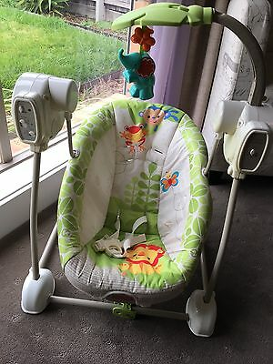 Fisher-Price Rainforest Friends Spacesaver Swing & Seat.