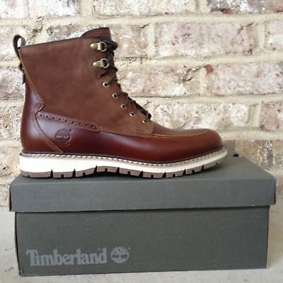$200 TIMBERLAND MEN'S Britton Hill Moc Toe Waterproof Boots