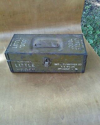 "Vintage 1940's Schaffner's  ""Little  Doc""   Metal First Aid Box"