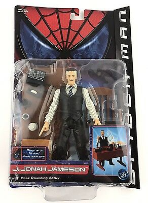 Spider-Man Series 1: J. Jonah Jameson Action Figure (2001) Old/New  SEALED