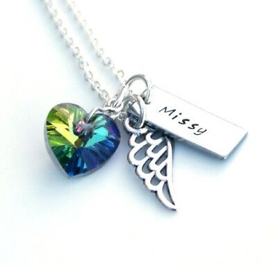 Rainbow Bridge Pet Memorial Gift, Personalised Pet Memory Jewellery, Heart Gift