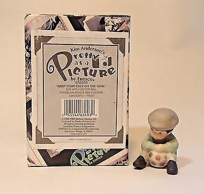 Enesco Pretty As A Picture KEEP YOUR EYES ON THE GOAL #626929 Kim Anderson NIB