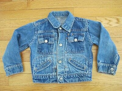 VINTAGE ORIGINAL JCP RANCHCRAFT KIDS DENIM JACKET PLEATED 1960's SIZE 4