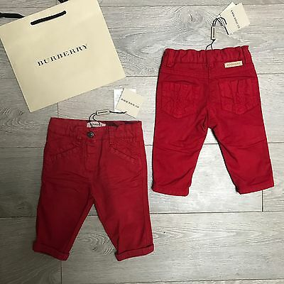 BNWT Gorgeous Baby Boy BURBERRY jeans trousers 3m RRP €99 100% Genuine