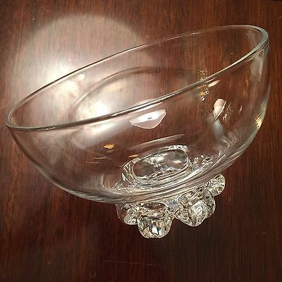 STEUBEN SCROLL FOOTED CRYSTAL BOWL EXCELLENT CONDITION hand signed