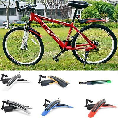 Bike Bicycle Mudguards Mountain Cycling Fender Front & Rear Mud Guard Set UK