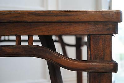Lovely Antique Vintage Oriental Solid Elm Dining Table - Asian Long Table