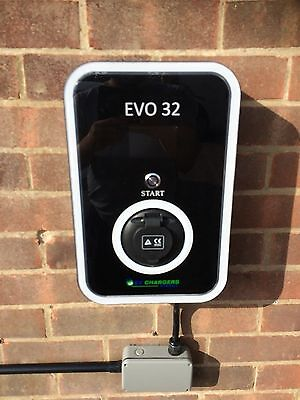 Electric Car EV Charge Point 7.3kw / 32amp output mode 3, EVO 32 charger EVSE