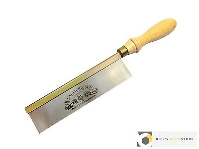 "Thomas Flinn Lynx 8"" Brass Backed Gents Saw Beech Handle (Garlick) 