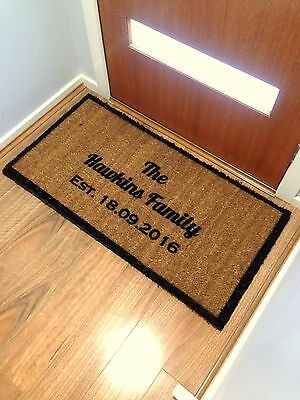 Extra Large Front 100X60Cm Doormat Housewarming Alphabet Wedding Personalised