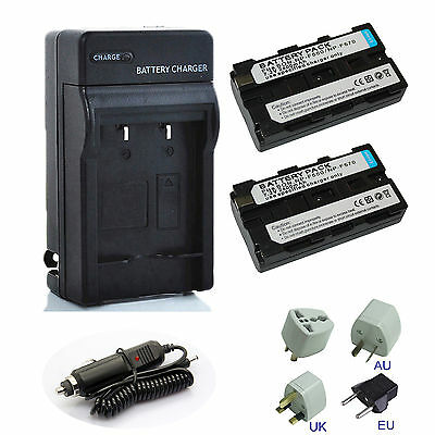 Battery / Charger for Sony NP-F550 NP-F750 NP-F970 YONGNUO YN300 YN-160 YN-140