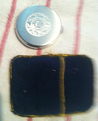 Plat-Mex-SA 925 Mexican Mexico Sterling Silver Powder Compact with Mirror
