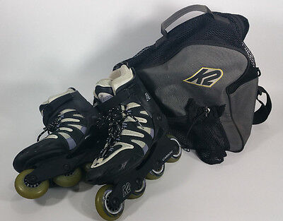 K2 Camano Carbon Inline Skates Roller Blades Womens size 9 Softboot with Bag