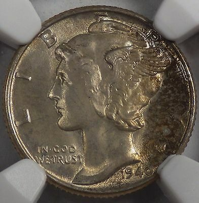 1940 Mercury Dime NGC MS66