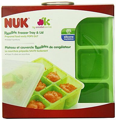 Homemade Baby Food Flexible Freezer Tray and Lid Set Baby Food Storage Container